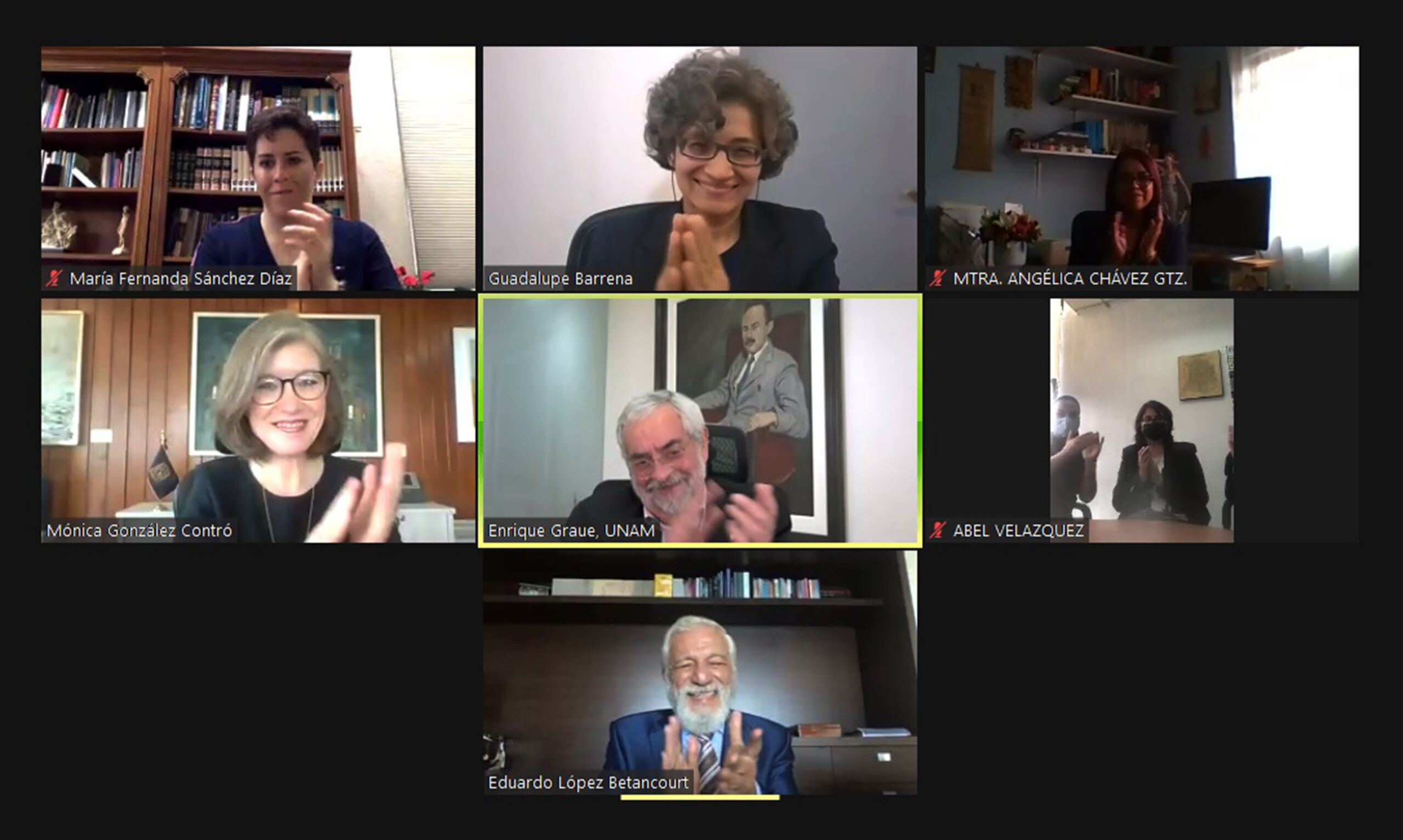 Ceremonia virtual protesta como nuevas vocales a las académicas Angélica Chávez Gutiérrez y María Fernanda Sánchez Díaz