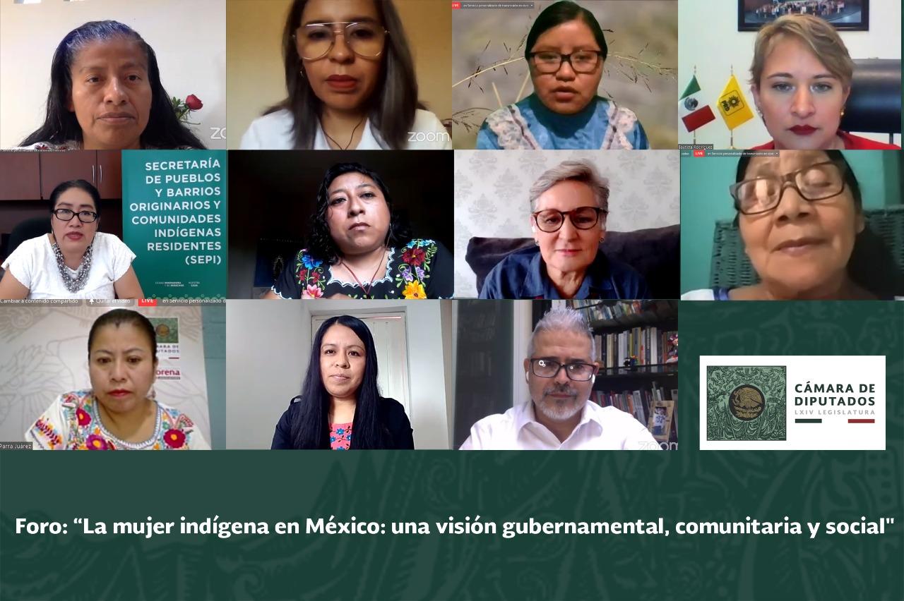 """foro """"La mujer indígena en México: una visión gubernamental, comunitaria y social"""