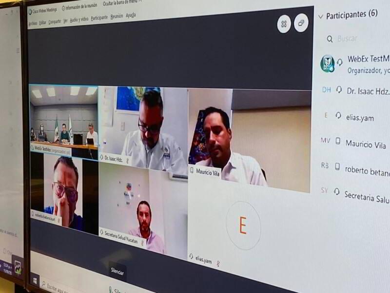 Videoconferencia IMSS y Gobierno de Yucatán revisan avances de la reconversión hospitalaria y la atención de los servicios de salud