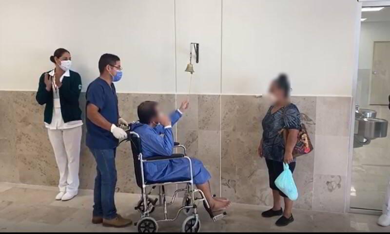Egresa el primer paciente atendido por COVID-19 en el HGZ No. 92 enCiudad Acuña