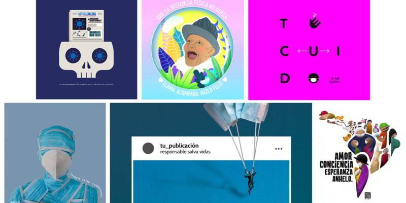 Imágenes de campañas de la OPS sobre la pandemia COVID-19