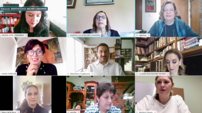 Reunión de la Comisión Para la Igualdad de Género con INMUJERES