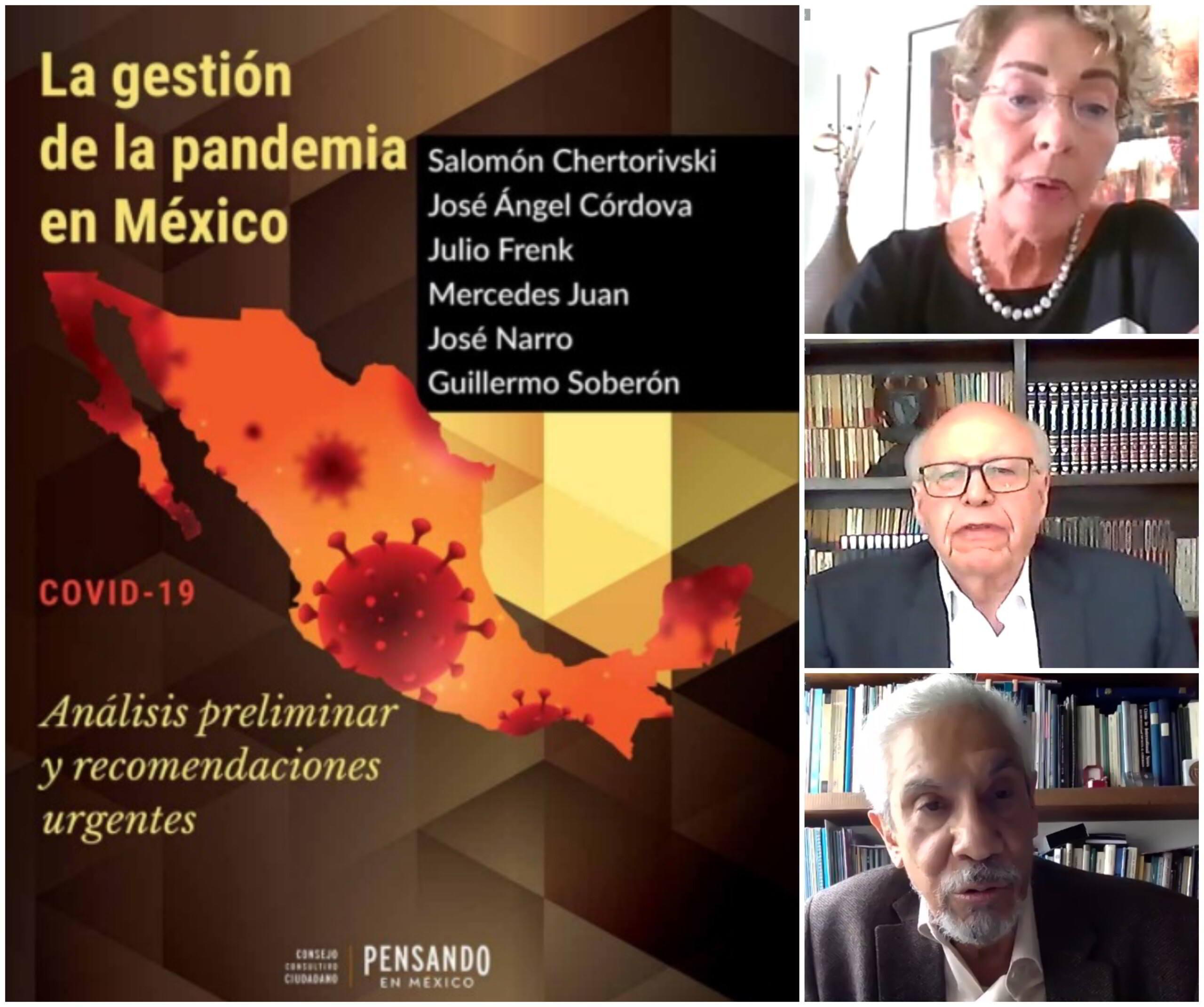 Portada de La getión de la pandemia en México