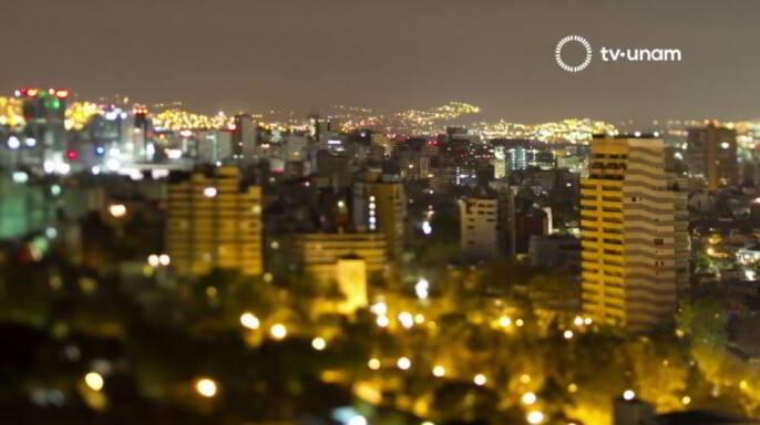 Edificios de la Ciudad de México de noche