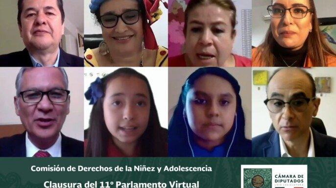 Cñausura del Onceavo Parlamento Virtual de Niñas y Niños