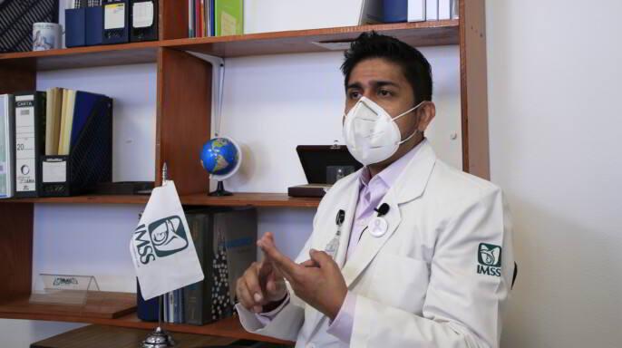 doctor Iván Alejandro Rodríguez Torres, Coordinador de Programas Médicos de la División de Prevención y Detección de Enfermedades del Instituto Mexicano del Seguro Social (IMSS)