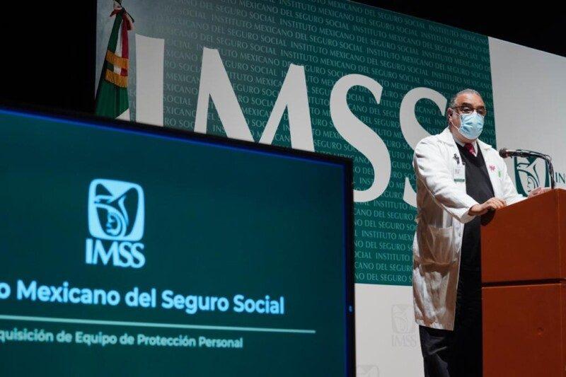 conferencia de prensa del IMSS