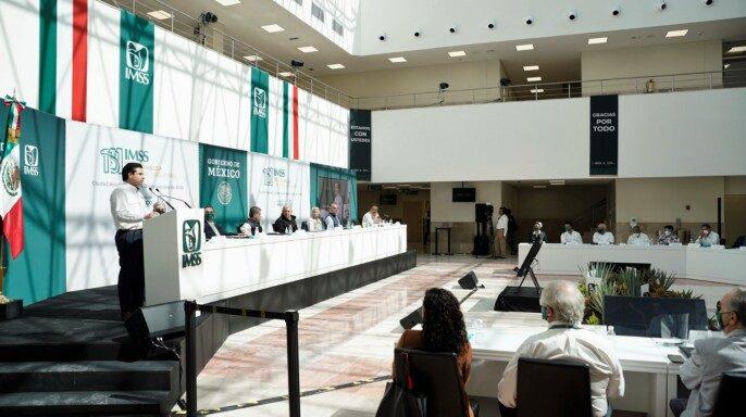 El director general, Zoé Robledo, destacó que pese a las adversidades el Instituto ha diseñado estrategias para salir adelante.