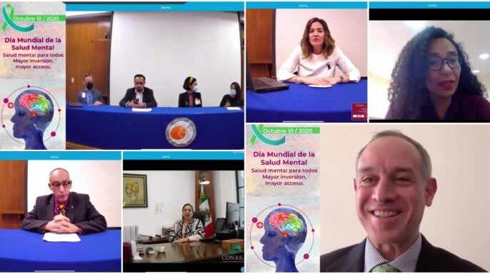 Ceremonia de los trabajos por el Día Mundial de la Salud Mental