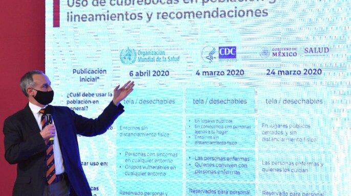 subsecretario de Prevención y Promoción a la Salud, Hugo López-Gatell Ramírez, durante la conferencia de prensa vespertina