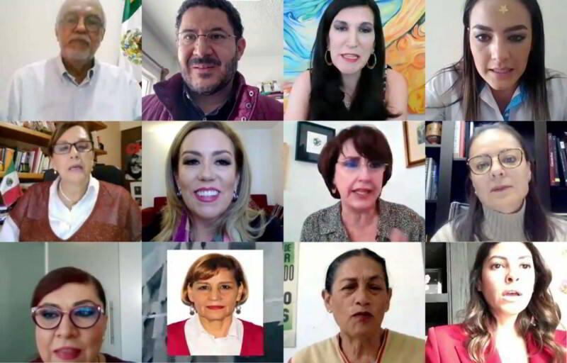 Videoconferencia de reunión de Comisiones Unidas