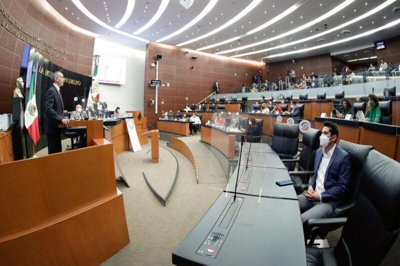 Comparecencia del Subsecretario de Prevención y Promoción de la Salud, Hugo López-Gatell, y del titular de la Cofepris, José Alonso Novelo, como parte de la glosa del Segundo Informe de Gobierno