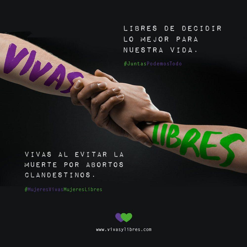 Cartel Vivas y Libres