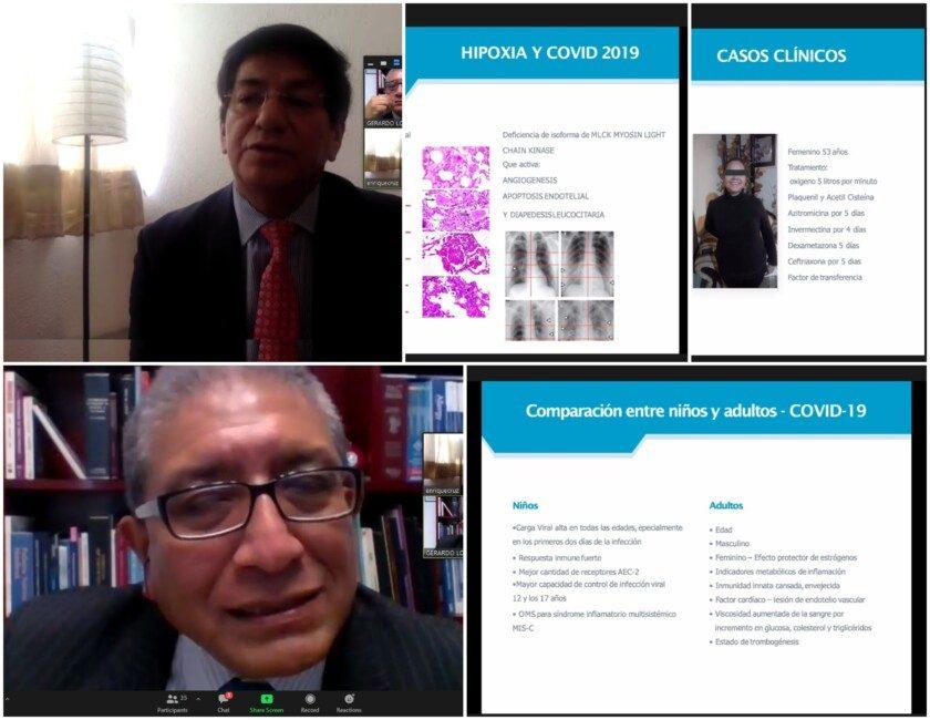 Doctor Gerardo López, infectólogo pediatra director general Asistencia Pediátrica Integral  y el Dr. Enrique Cruz Gómez, Pediatra intensivista, Presidente Healthia Medical Spot LATAM.