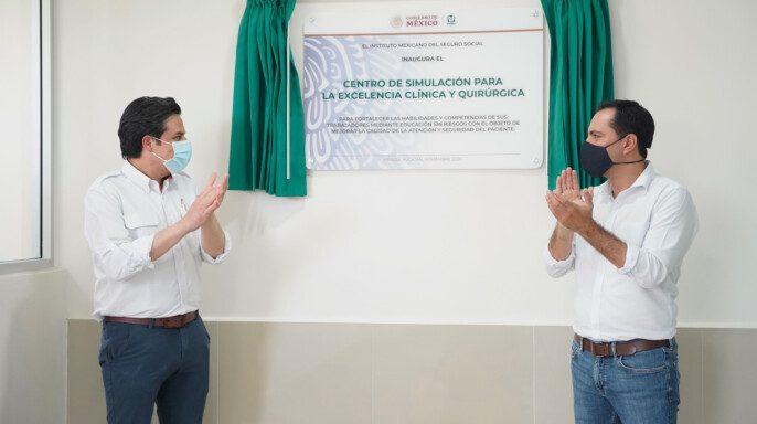 IMSS y gobierno de Yucatán inauguran el Centro de Simulación para la Excelencia Clínica y Quirúrgica