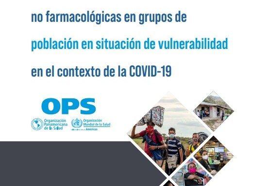 Portada Orientaciones para la aplicación de medidas de salud pública no farmacológicas en grupos de población en situación de vulnerabilidad en el contexto de la COVID-19