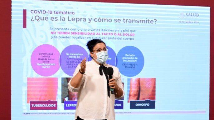 directora del programa de Micobacteriosis del Centro Nacional de Programas Preventivos y Control de Enfermedades (Cenaprece), Fátima Leticia Luna López