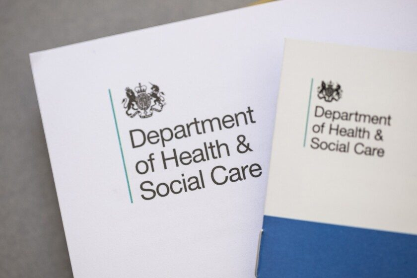 Department of health social care official letter