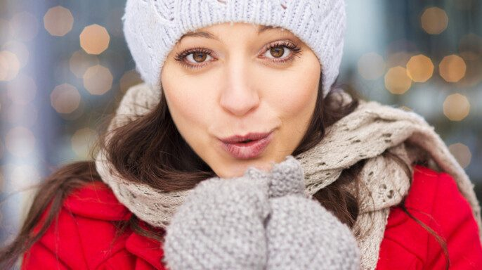 Chica en invierno