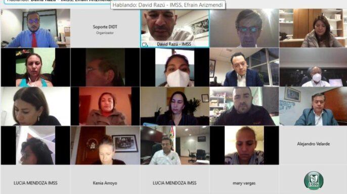 decimocuarta reunión entre autoridades del Seguro Social y madres y padres de niños que reciben tratamiento oncológico en el IMSS