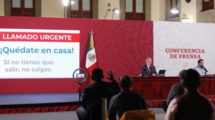 conferencia de prensa diaria para informar sobre la situación de la pandemia