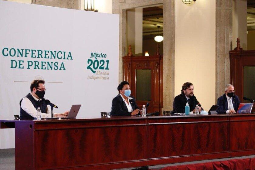conferencia de prensa acerca del informe diario sobre COVID-19, en Palacio Nacional