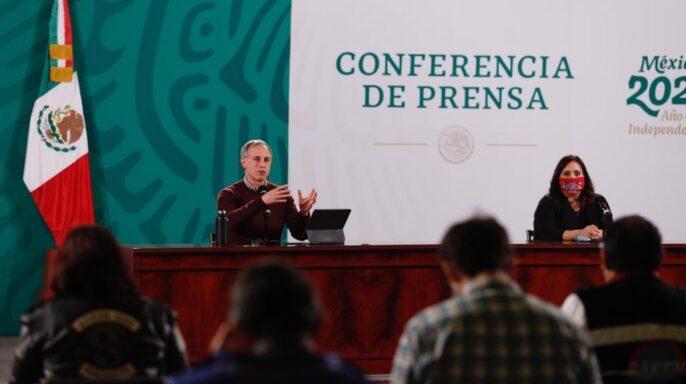 conferencia para dar a conocer la actualización del informe diario sobre COVID-19