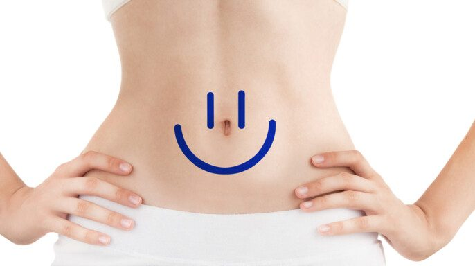 Cuerpo delgado de mujer joven con trabajo perfecto de Motilitidad intestinal