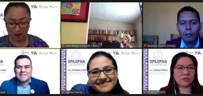 conferencia de prensa virtual de la firma de acuerdo de colaboración entre el Instituto Nacional de Lenguas Indígenas (INALI), el Capítulo Mexicano de la Liga Internacional Contra la Epilepsia (CAMELICE) y Armstrong Laboratorios de México