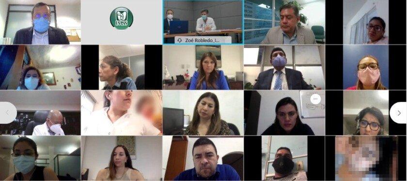 Vigésima quinta reunión del IMSS con representantes de madres y padres de menores con cáncer