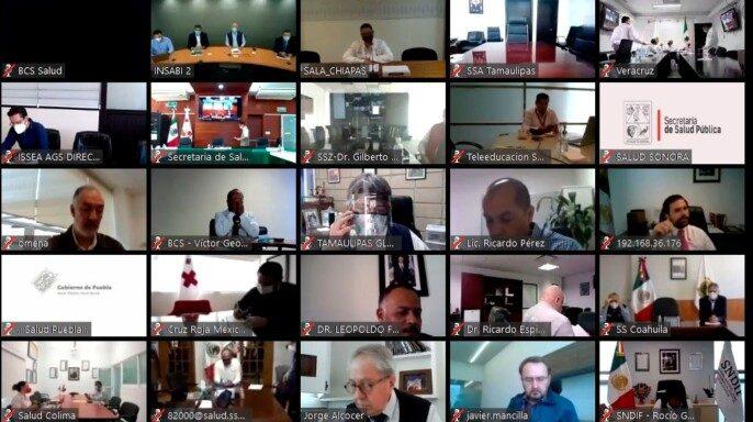 Secretario de Salud, Jorge Alcocer Varela, inaugura de forma virtual la primera reunión ordinaria del Consejo Nacional de Salud (Conasa)