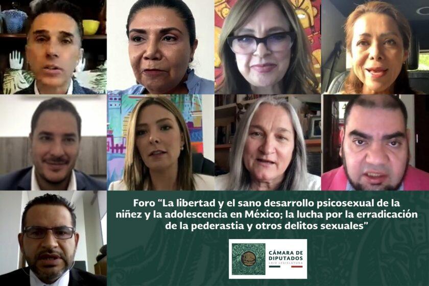 """foro """"La libertad y el sano desarrollo psicosexual de la niñez y la adolescencia en México; la lucha por erradicar la pederastia y otros delitos sexuales"""""""