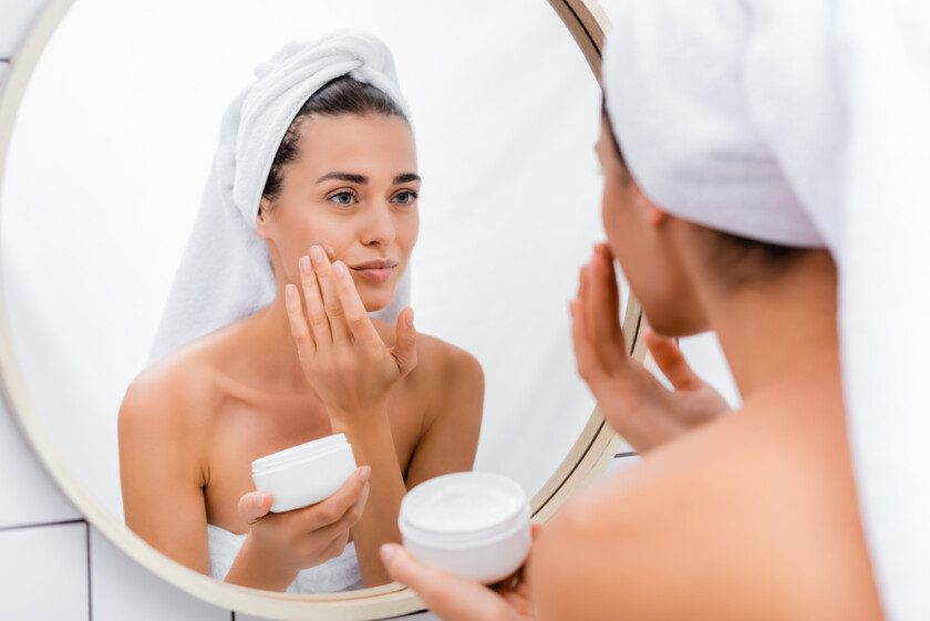 Mujer en espejo