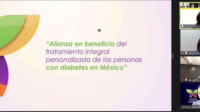 Conferencia de prensa virtual para dar a conocer Alianza en beneficio del tratamiento integral personalizado de las personas con diabetes en México