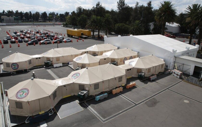 Hospital de Expansión del IMSS en el Autódromo Hermanos Rodríguez