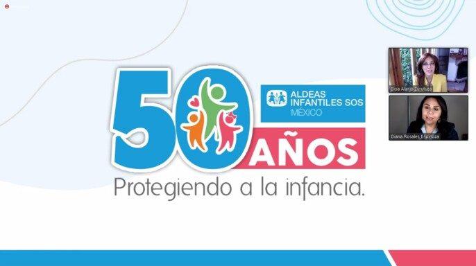 Aldeas Infantiles SOS, 50 años protegiendo el derecho a vivir en familia de las niñas y niños.