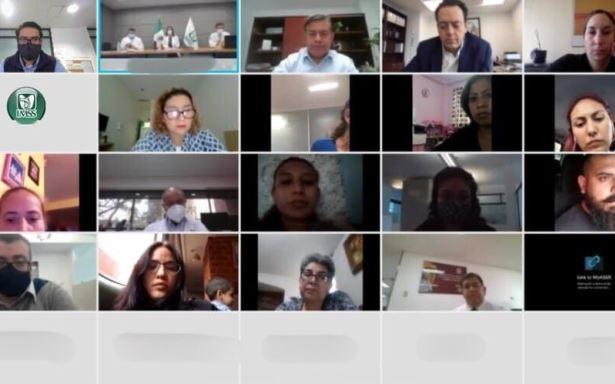 reunión virtual trigésima octava reunión entre autoridades del IMSS con las madres y los padres de pacientes pediátricos oncológicos