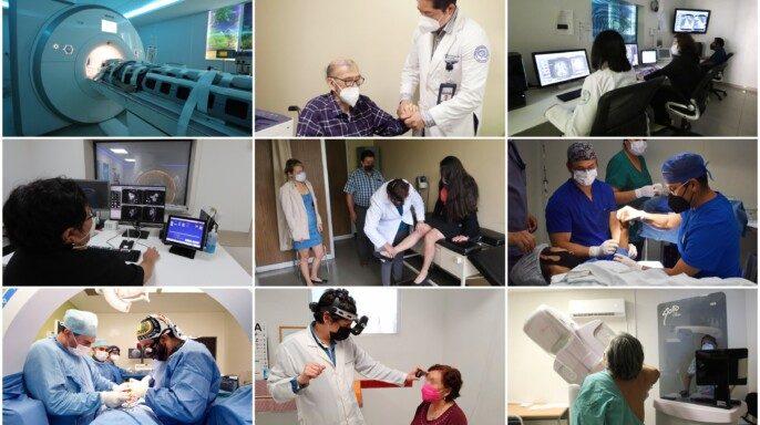 mosaico de imágenes servicios médicos