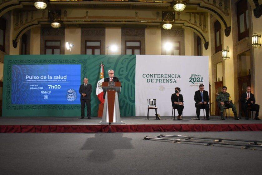 Pulso de la Salud, durante la conferencia de prensa matutina encabezada por el presidente Andrés Manuel López Obrador
