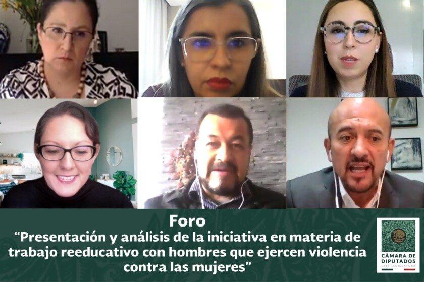 foro virtual para la presentación y análisis del Proyecto de Iniciativa legislativa en materia de trabajo reeducativo con hombres que ejercen violencias contra las mujeres
