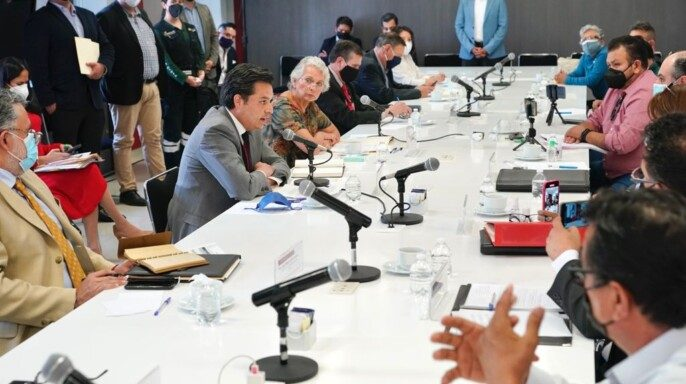mesa de diálogo de alto nivel que encabezó la secretaria de Gobernación, Olga Sánchez Cordero, para revisar la situación del fondo de ahorro de cesantía y vejez de las personas jubiladas del Instituto Mexicano del Seguro Social (IMSS)
