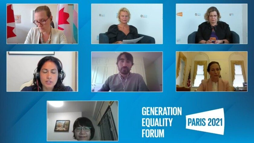 """Foro Generación Igualdad de París y durante el Panel de Alto Nivel """"WEE Care: Construyendo una economía con igualdad de género"""""""