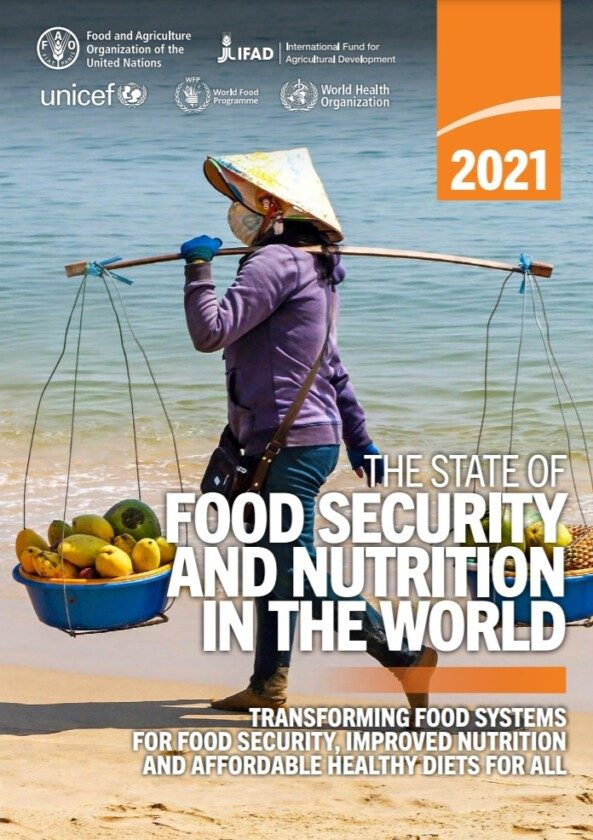 Portada he State of Food Security and Nutrition in the World 2021.