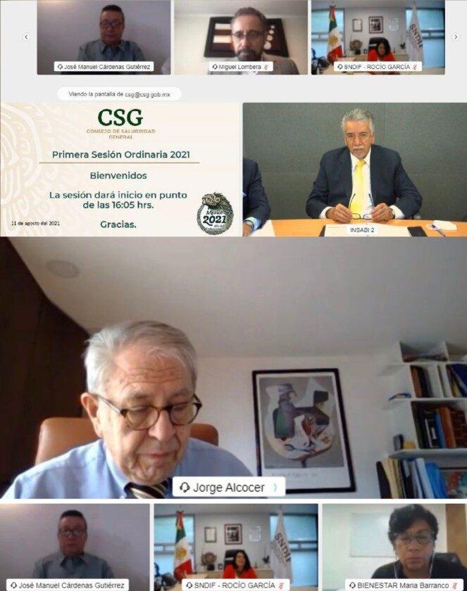Primera Sesión Ordinaria 2021 Consejo de Salubridad General (CSG)