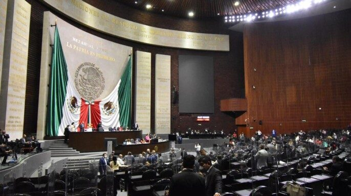 Sala de la Cámara de Diputados