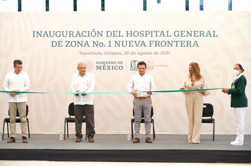 """Inauguran Hospital General de Zona No. 1 """"Nueva Frontera"""" del IMSS  en Tapachula, Chiapas"""
