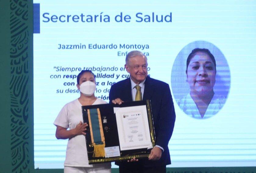 Jazzmin Eduardo Montoya, de la Secretaría de Salud