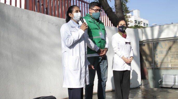 """Banderazo en el Centro de Salud T-III """"Doctor Rafael Ramírez Suárez"""", ubicado en la Alcaldía Gustavo A. Madero"""