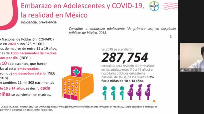 Datos de embarazos adolescentes y COVID-19 en México