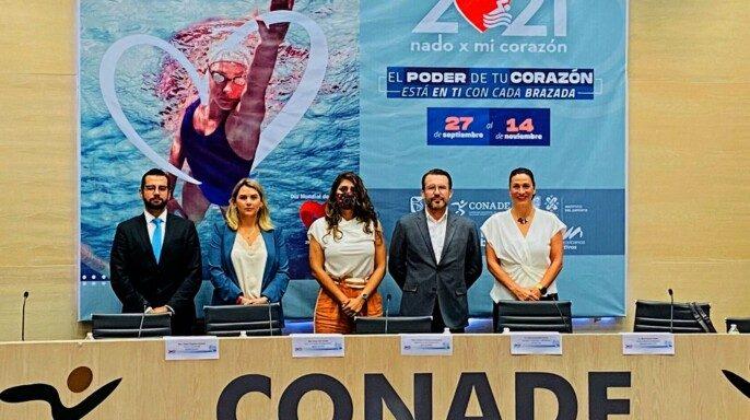"""Conferencia de prensa de 11va edición del """"Nado x mi Corazón"""""""